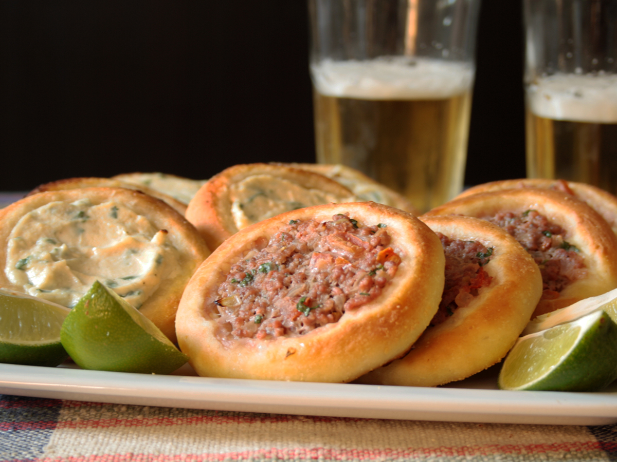 Esfiha (Flatbread with Meat or Cheese)